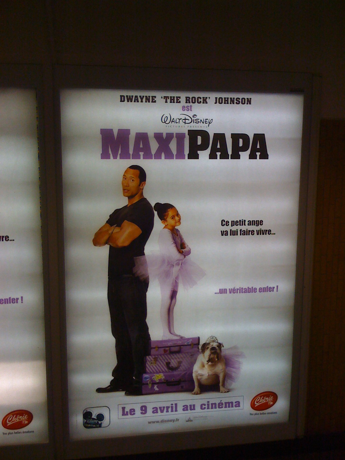 """Not an Orangina Ad, But In Paris, """"The Game Plan"""" is Called """"Maxi Papa!"""""""